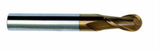 HRC 55 Deg Tungsten Steel 2 Flutes Ball Nose End Mills